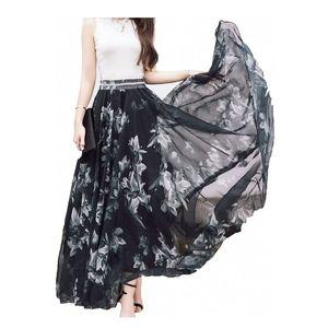 💖Afibi Blending Maxi Chiffon Long Skirt